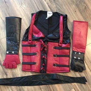 Batman vest gloves belt costume Halloween
